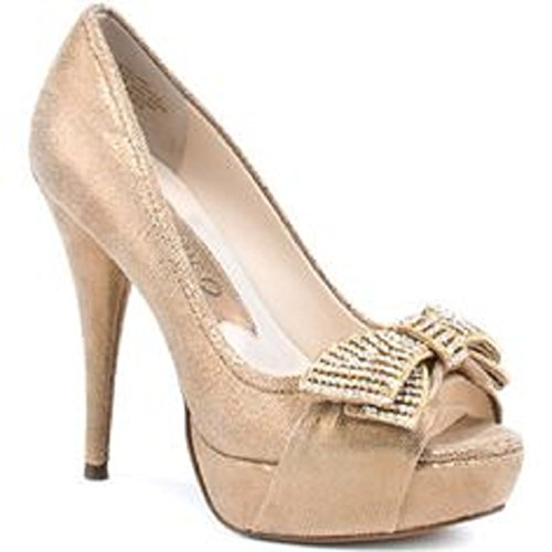 Pompa Open-toe Glamour Boutique 9 Donna, Oro, 6,5 M Us