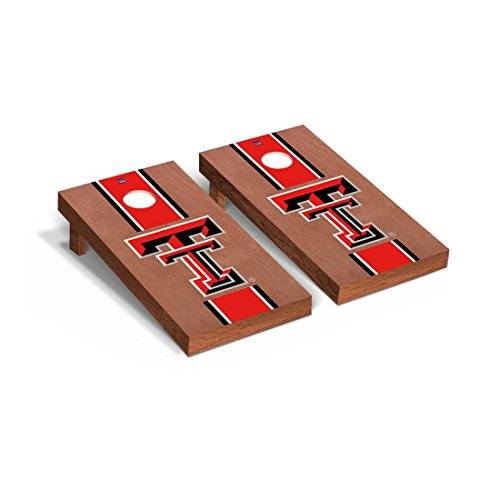 rs Regulation Cornhole Game Set Rosewood Stained Stripe Version (Texas Tech Player)