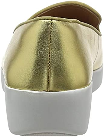 FitFlop Audrey Smoking Slipper-Leather, Mocasines Mujer