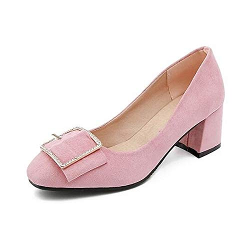 Yellow Heels Wedge Black Spring Pink Heel Yellow Basic Women's Pump ZHZNVX Shoes Suede Y1vAqwx