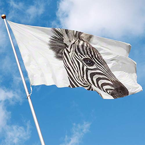 YUANSHAN Home Garden Flag Zebra Face Polyester Flag Indoor/Outdoor Wall Banners Decorative Flag 3' X -