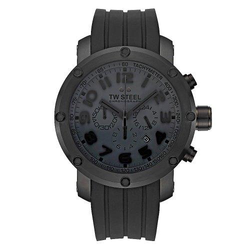 TW Steel Men's Tech Black Rubber Watch
