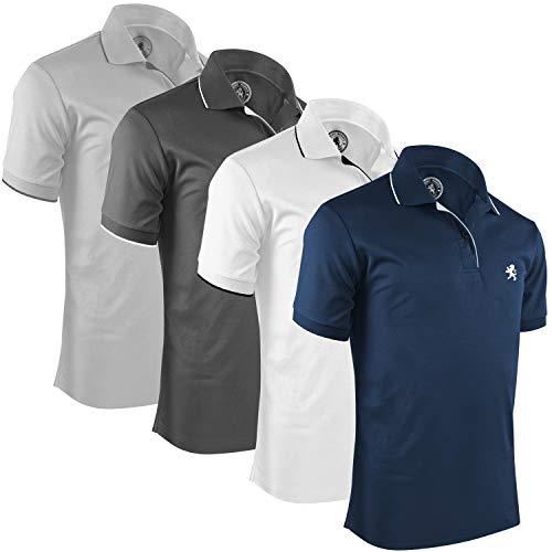 Albert Morris Mens Polo Shirts Packs, Short Sleeve - Nautical, Medium ()