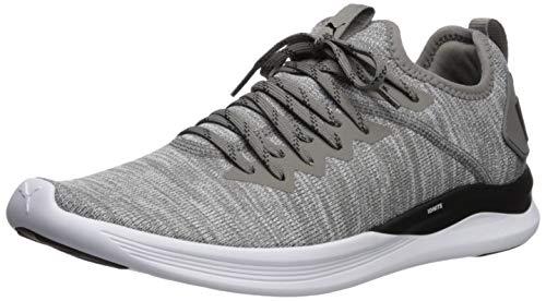 PUMA Men's Ignite Flash Evoknit Sneaker, Steel Gray Black, 10.5 M US]()