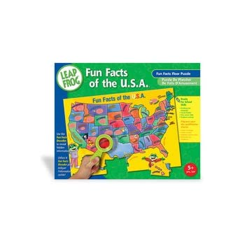 Amazon leapfrog world map fun facts 48pc floor puzzle toys games leapfrog fun facts of the usa floor puzzle with decoder gumiabroncs Images