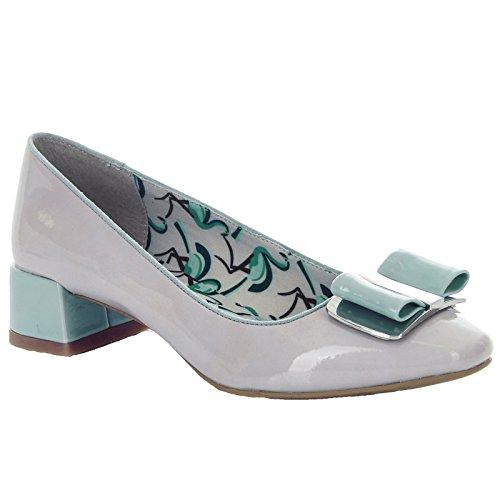 Ruby And Stone Vegan Ladies Friendly June 38 Shoo uk Pump Patent Shoes Bow Mint eu 5 rwtIar