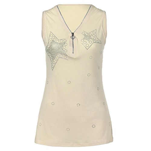 vermers Clearance Deals Fashion Plus Size Tank Tops for Women - Ladies Hot Drill Zipper Sleeveless Vest T Shirt(5XL, ()