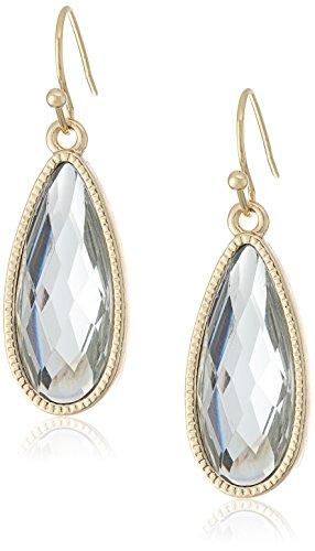 1928 Jewelry Gold-Tone Crystal Elongated Teardrop (Elongated Teardrop Ring)