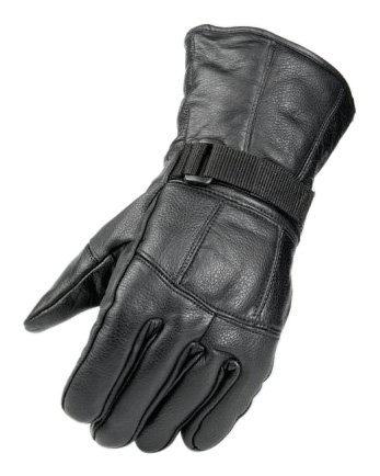 Raider BCS-2660-M Black Leather Gauntlet Motorcycle Riding Gloves for Men and Women (Size Medium)