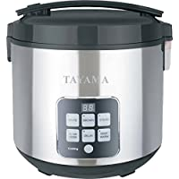 Tayama TRC-50H1 10-Cup Digital Rice Cooker and Food Steamer (Black)