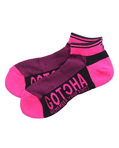 公製造業与える(ガッチャ ゴルフ) GOTCHA GOLF 靴下 ネオン リブ ソックス 181GG8800 ブラック Lサイズ