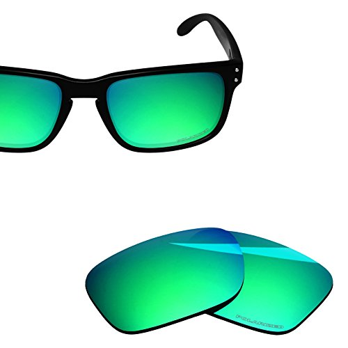 BlazerBuck Anti-salt Polarized Replacement Lenses for Oakley Holbrook OO9102 - Emerald ()