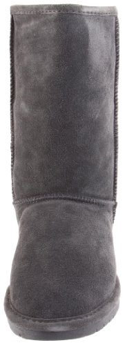 Bearpaw Trimmed Emma Boot Fur Charcoal Grey Women's 030 AxrnzwSA7