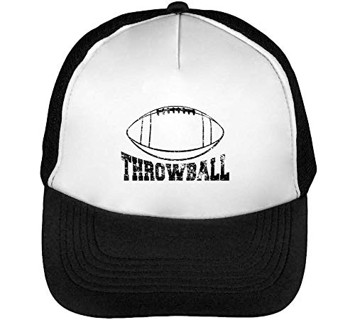 Throwball Football Gorras Hombre Snapback Beisbol Negro Blanco