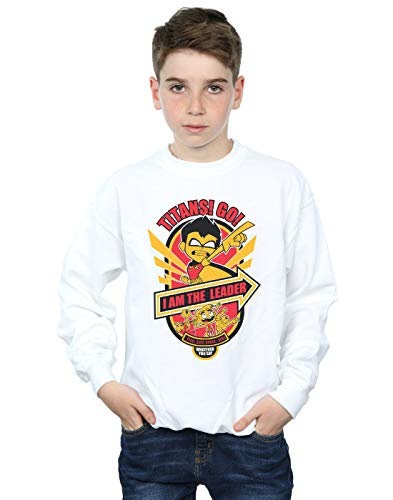 Sweat Titans Leader Go Comics Blanc I Dc The Garçon shirt Teen Am zqOwyxSAt