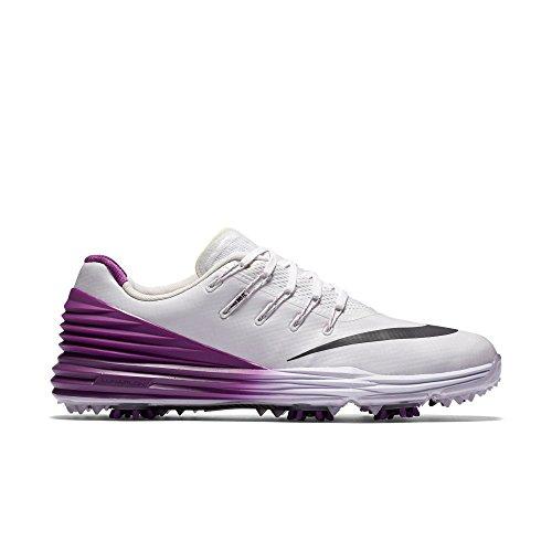 2016 Nike LUNAR CONTROL 4 Golf Shoes Medium -New- Grey/Black/Blue/White White/Anthracite/Cosmic Purple