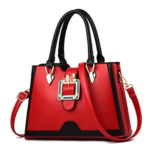 Sacs bandoulière Vineux portés Femme Cuir Faux Sacs DEERWORD portés Sacs main Cartable Sacs Rouge Sacs main épaule à Violet R5wBUqxP