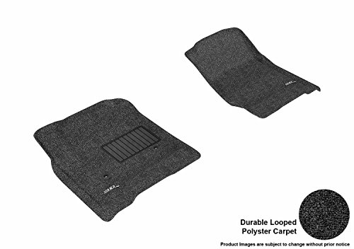 3D MAXpider Front Row Custom Fit All-Weather Floor Mat for Select Chevrolet Silverado /GMC Sierra Double Cab /Crew Cab /Chevrolet Suburban /Chevrolet Tahoe /GMC Yukon /GMC Yukon XL Models - Classic Carpet  (Black)
