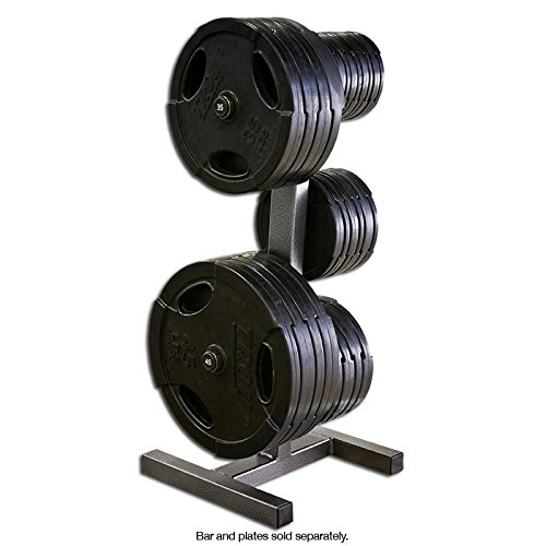 Legend Fitness 3193 USA-Made Heavy-Duty Olympic Peg Plate Holder - Olympic Plate Rack - Olympic Plate Tree