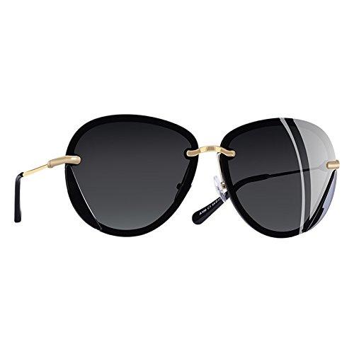 gafas a TIANLIANG04 Gafas las mujeres atrás UV40 C2ROSA polarizadas C1Gray de sol adaptadas RwOwzXq
