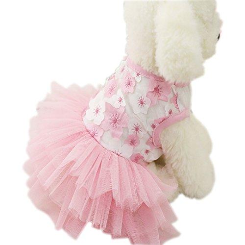 Ennc Pet Apparel Girl Dog Princess Tutu Dress Cat Skirt V...