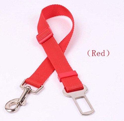 Red PANYTOW Dog Seat Belt Lead Restraint Harness Black