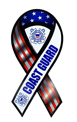 Ramson's Imports United States Coast Guard 2 in 1 Ribbon Magnet