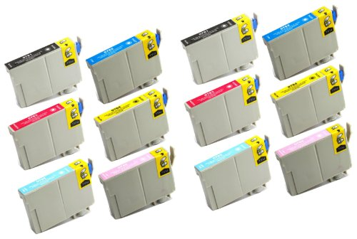 T078620 Compatible Light (12 Pack Remanufactured Inkjet Cartridges for Epson T078 #78 T078120 T078220 T078320 T078420 T078520 T078620 Compatible With Epson Artisan 50, Stylus Photo R260, Stylus Photo R280, Stylus Photo R380, Stylus)