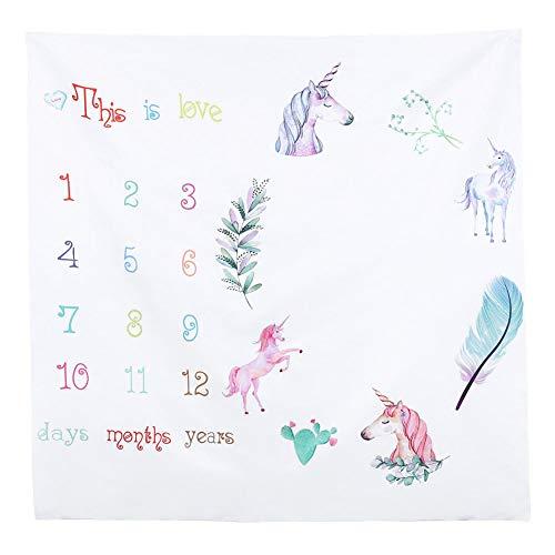 - Starte Monthly Baby Milestone Blanket Photography Background for Infant Newborn Baby Swaddling Month Blanket 40
