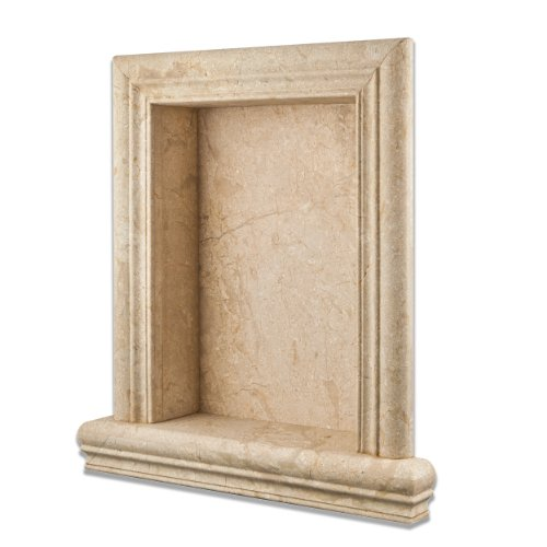 Golden Sands Marble Honed Hand-Made Custom Shampoo Niche - LARGE by Oracle Tile & Stone