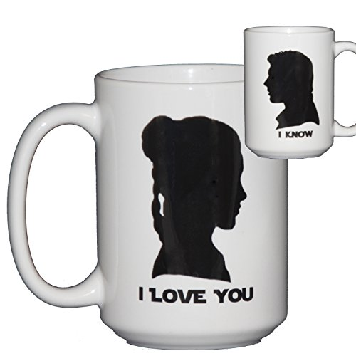 I Love You - I Know - Pop Culture Reference Romantic Coffee Mug (Princess Leia Quotes)