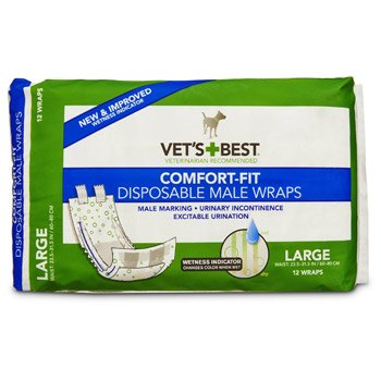 Vet's Best Comfort Fit Disposable Male Wrap, 12 count from OUT! International