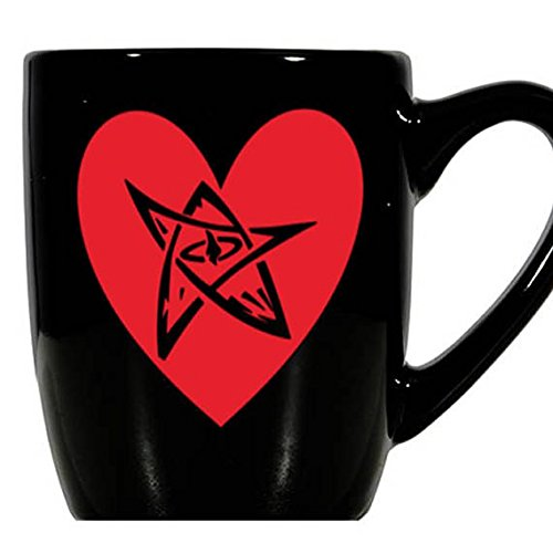 Elder Sign Cthulhu HP Lovecraft Lovecraftian Eldritch Valentine's Day Love Heart Horror Mug Coffee Cup Gift Home Decor Kitchen Halloween Bar