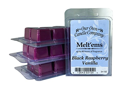 Company Raspberry - Our Own Candle Company Premium Wax Melt, Black Raspberry Vanilla, 6 Cubes, 2.4 oz (4 Pack)