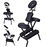 GHP Portable PU Leather 3'' Foldable Flat Pad Travel Massage Tattoo Spa Chair