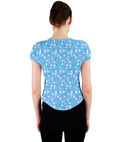 CowCow - Camiseta sin mangas - para mujer azul claro