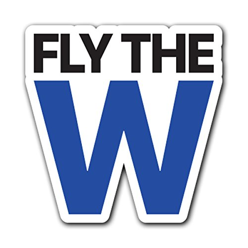 CUSTOMI FLY THE W CHICAGO Decal Sticker for Car Truck Macbook Laptop Air Pro (Chicago Cubs Sticker)