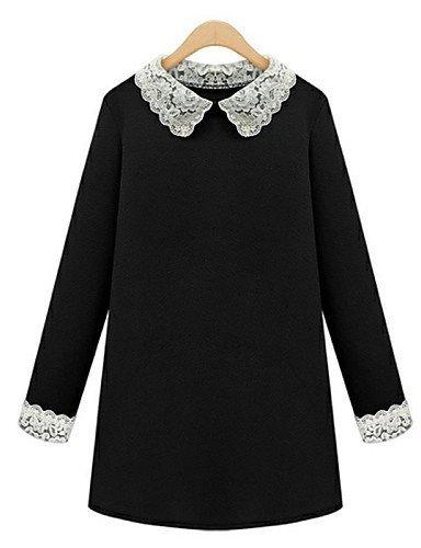 GSP-Damen Kleid - Übergrößen Übergröße / Sexy Patchwork Mini Polyester Hemdkragen