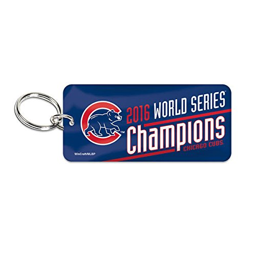 Wincraft Officially Licensed MLB Chicago Cubs 2016 World Series Champion Acrylic Keychain