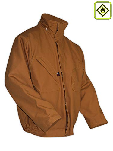 - Magid Glove & Safety BJ122DHXXL BJ122DH Dual-Hazard Quilt-Lined Duck Bomber Jacket, Brown, 2XL, Flame Resistant 100% Cotton