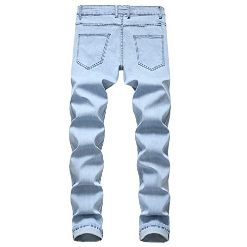 Men's Skinny Fit Ripped Destroyed Fashion Comfy Stretch Jeans Pants