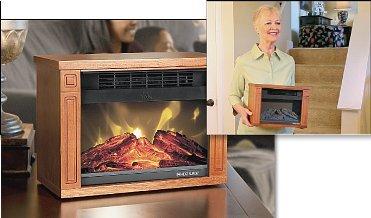 Heat Surge Mini Glo Efficiency Plus in Dark Oak