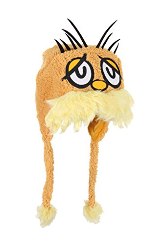 Elope Dr. Seuss Lorax Hoodie Hat, Yellow, One Size -