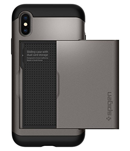 Spigen Slim Armor CS Designed for Apple iPhone Xs Case (2018) / Designed for Apple iPhone X Case (2017) - Gunmetal