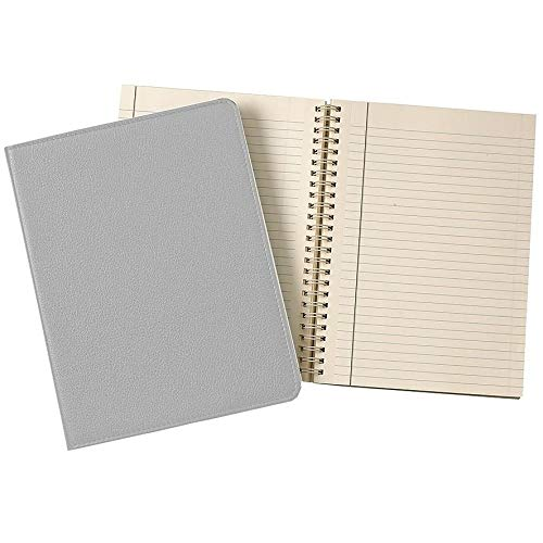 Wire-O-Notebook 9in Grey Fine Leather by Graphic Image™ - 7x9