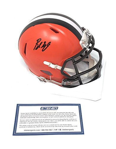 Baker Mayfield Cleveland Browns Signed Autograph Speed Mini Helmet Steiner Sports ()