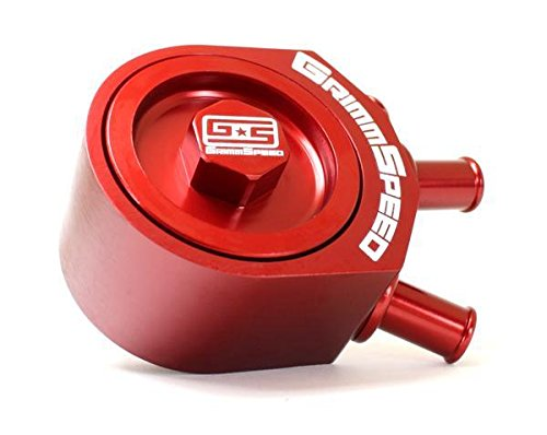 GrimmSpeed 02-07 WRX / 04-10+ STi RED Air Oil Separator (078006r)