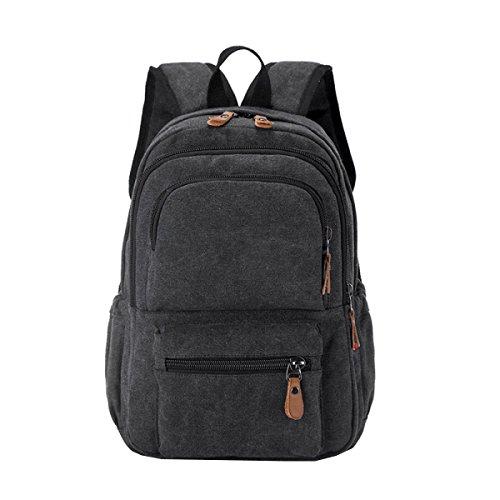 Shoulder Black Business Bag Waterproof Multi Canvas Travel Leisure Laidaye purpose Backpack 5xqawURvXX