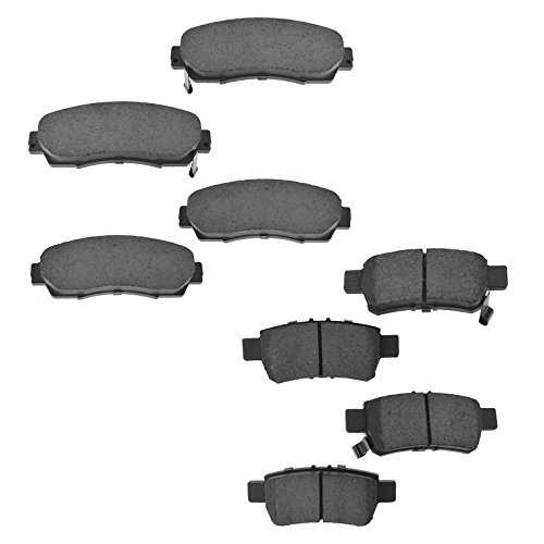 Front & Rear Posi Ceramic Disc Brake Pad Set Kit for Honda Odyssey (Honda Odyssey Rear Brake)