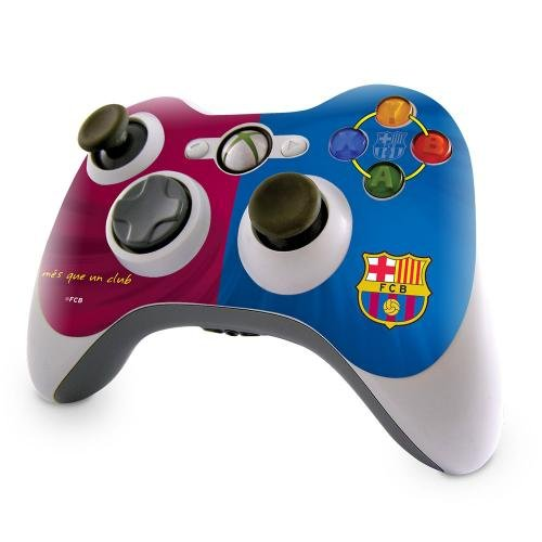 Barcelona F.C. F.C. Barcelona Xbox 360 Controller Skin Xbox 360 Controller Skin Antifade Waterproof Bubblefree Finish Antiscratch Easy Application No Residue When Removed In A Display Packet Official Football (Barcelona Finish)